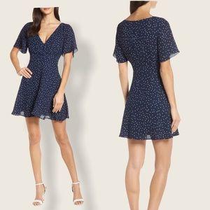 Size 0 BB Dakota La La Land Dot Flutter Dress